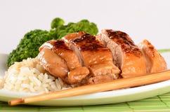 Piec na grillu kurczak Teriyaki zdjęcie royalty free