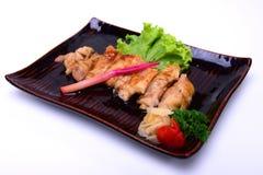 Piec na grillu kurczak Teriyaki, odizolowywający na białym tle z Cl Zdjęcia Stock