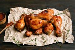 piec na grillu kurczaka drumstick Zdjęcie Royalty Free