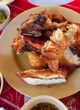 Piec na grillu kurczaka Tajlandia jedzenie ten mały korzenny z ziele obraz royalty free