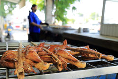 Piec na grillu kurczaka Uliczny jedzenie, Tajlandia Obraz Royalty Free
