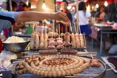 Piec na grillu kwaśna wieprzowina Zdjęcia Stock