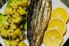 piec na grillu makrela Zdjęcia Royalty Free