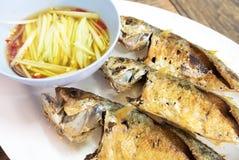 Piec na grillu makrele Obrazy Royalty Free