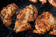 Piec na grillu marynował kurczak pierś Obraz Royalty Free