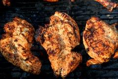 Piec na grillu marynował kurczak pierś 3 Obraz Stock