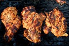 Piec na grillu marynował kurczak pierś 2 Obrazy Stock