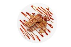 Piec na grillu mięśni ziobro, grill, kumberland, odizolowywający fotografia stock