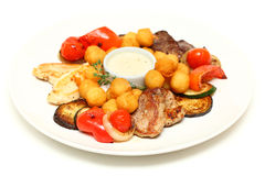 Piec na grillu mięsa bbq Fotografia Stock