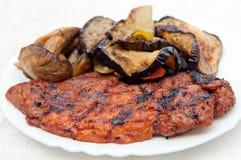 piec na grillu mięso zdjęcia royalty free