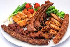 Piec na grillu mięso, grill, Dobierający Obrazy Royalty Free