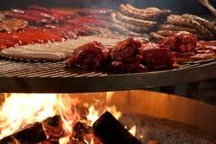 piec na grillu mięso Obraz Royalty Free