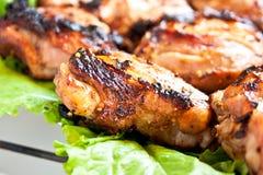 Piec na grillu mięso Obrazy Royalty Free