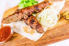 Piec na grillu mięsa Zdjęcie Royalty Free
