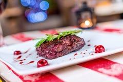 Piec na grillu mięsa Obrazy Stock