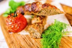 Piec na grillu mięsa Zdjęcie Stock