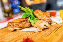 Piec na grillu mięsa Zdjęcia Royalty Free