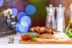 Piec na grillu mięsa Fotografia Royalty Free