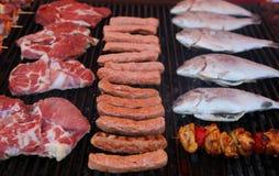 Piec na grillu mięsa Obraz Royalty Free