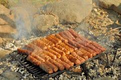 Piec na grillu mięsne rolki Obraz Royalty Free