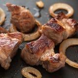Piec na grillu mięso z Orion Zdjęcia Royalty Free
