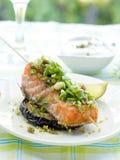 piec na grillu łosoś Fotografia Stock