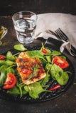 Piec na grillu łososiowego stku filet Fotografia Stock