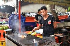 Piec na grillu owoce morza ryba dla gościa restauracji przy Kot Kinabalu Zdjęcie Royalty Free