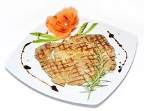 piec na grillu pierś kurczak Fotografia Stock