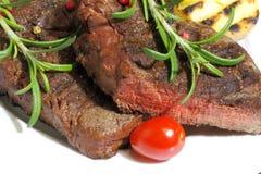 Piec na grillu polędwicowy wołowina obrazy stock