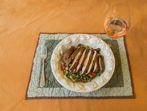 Piec na grillu Portobello sałatka Zdjęcia Royalty Free