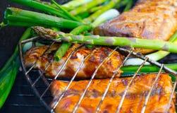 piec na grillu przygotowywający Fotografia Stock