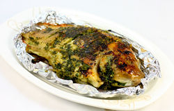 Piec na grillu ryba Fotografia Stock