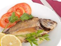 Piec na grillu ryba obrazy stock