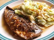 Piec na grillu rybi japoński styl Zdjęcia Royalty Free