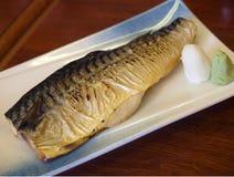 Piec na grillu rybi japoński styl Fotografia Stock
