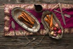 Piec na grillu Słodkie Nantes marchewki Obraz Stock