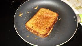 Piec na grillu Serowa kanapka Obraz Stock