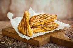 Piec na grillu Serowa kanapka Zdjęcie Royalty Free