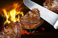 Piec na grillu stku grill Zdjęcie Stock