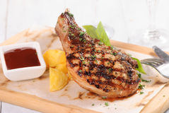 Piec na grillu stojak wieprzowina Obrazy Stock