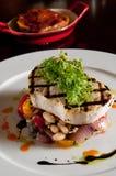 piec na grillu swordfish obraz royalty free