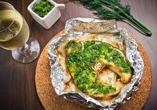 Piec na grillu swordfish polędwicowi z pesto Obrazy Stock