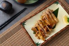 Piec na grillu teriyaki kurczak zdjęcie stock