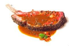 Piec na grillu Wagyu wołowiny stek Obrazy Royalty Free