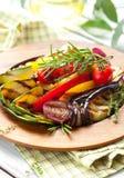 piec na grillu warzywa Zdjęcia Royalty Free