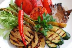 Piec na grillu warzywa Zdjęcie Stock