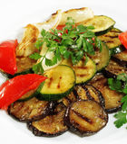 piec na grillu warzywa Fotografia Stock