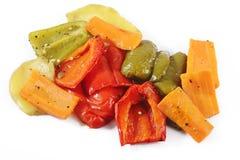 Piec na grillu warzywa na bielu Obrazy Stock