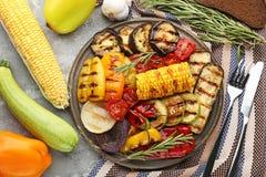 Piec na grillu warzywo Zdjęcia Royalty Free
